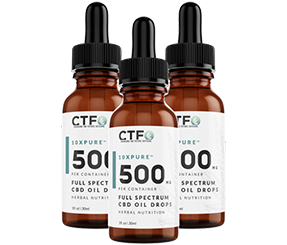 10xPURE Full Spectrum CBD Oil Drops - 500mg - 3 Pack